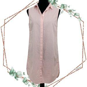 Equipment Michaela Gingham cotton shirt dress M